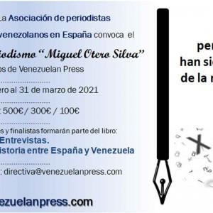"Venezuelan Press reanuda la convocatoria de su V Concurso de periodismo ""Miguel Otero Silva"""