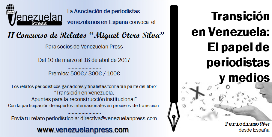 II Convocatoria Concurso de Relatos Miguel Otero Silva