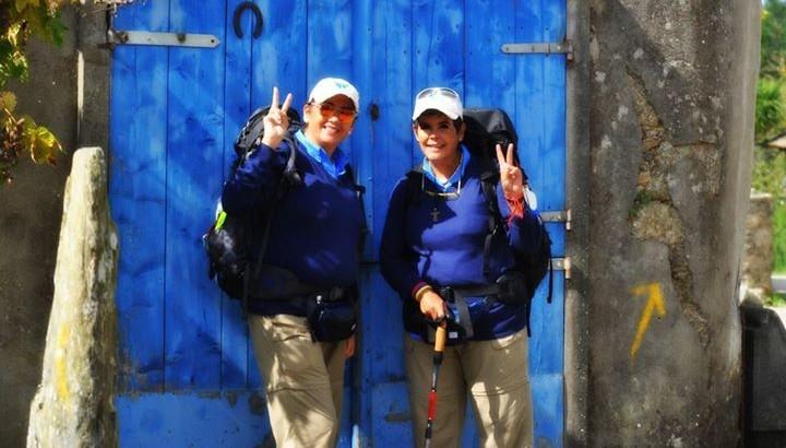 Venezolanas hacen el Camino de Santiago