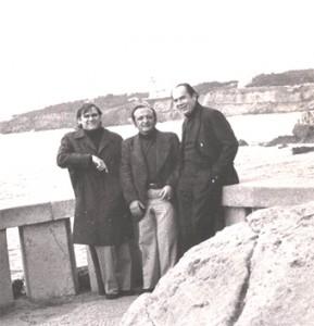 Carías, Grillo y Rumbos en playa lisboeta (Cortesía: GCS)