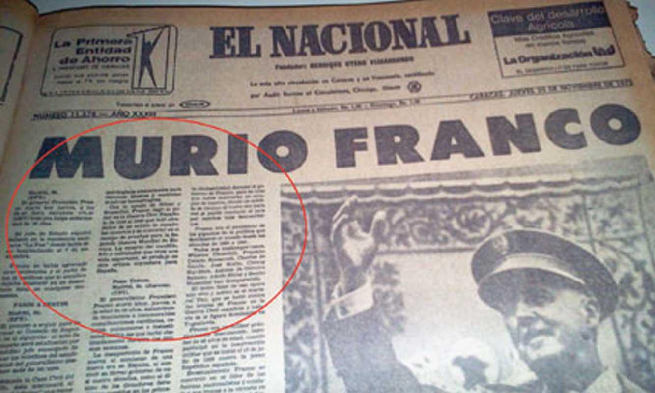 Anatomía de un tubazo continental: a 40 años de la muerte de Franco ...