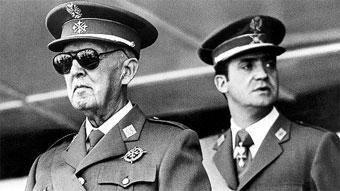 Francisco Franco y Juan Carlos de Borbón