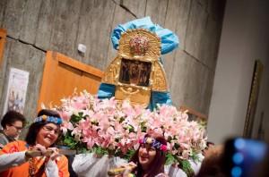 Procesión en la bajada de la Chinita en Madrid 2015