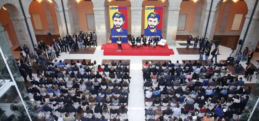 Acto por Leopoldo López en Madrid