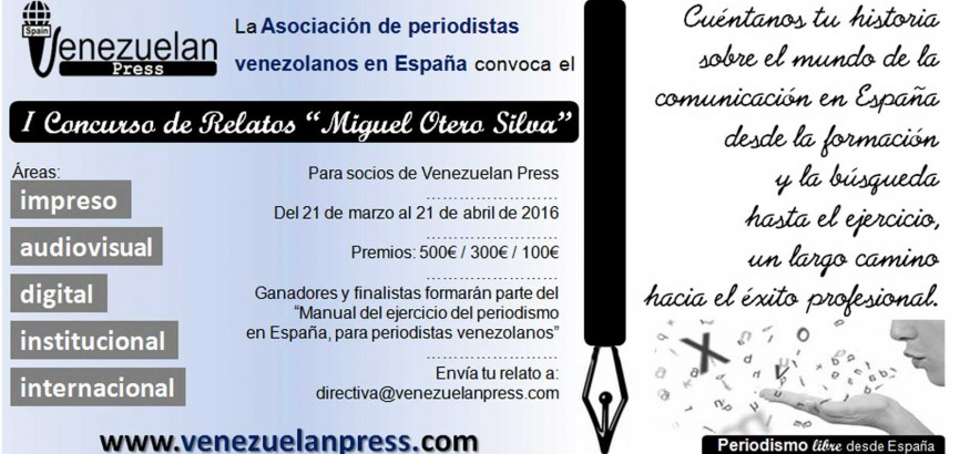 Convocatoria I Concurso relatos Venezuelan Press Miguel Otero Silva