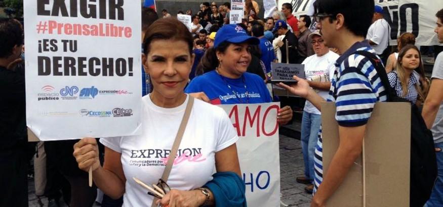 Marcha #PrensaLibre Eva Gutiérrez
