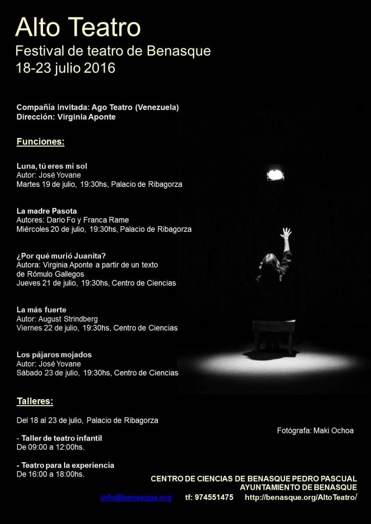Cartel del Festival de teatro de Benasque