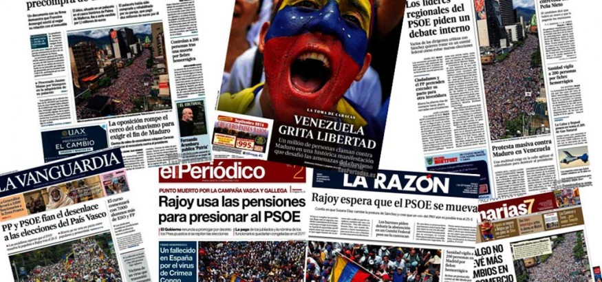 Toma de Caracas en la prensa española