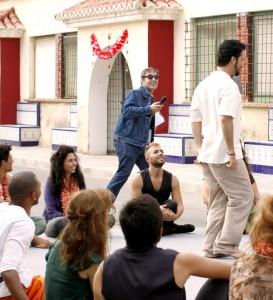 Ramón y Doriam durante la grabación de Bollywood made in Spain