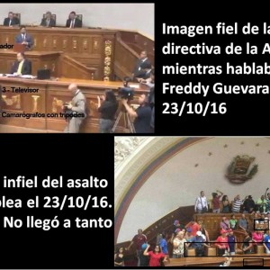 La foto infiel de un intento de asalto a la Asamblea Nacional