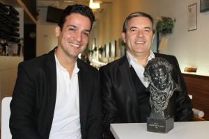 Ramón Margareto, Doriam Sojo y el Goya con Venezuelan Press