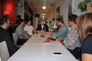 Dorim Sojo y Ramón Margareto con Venezuelan Press