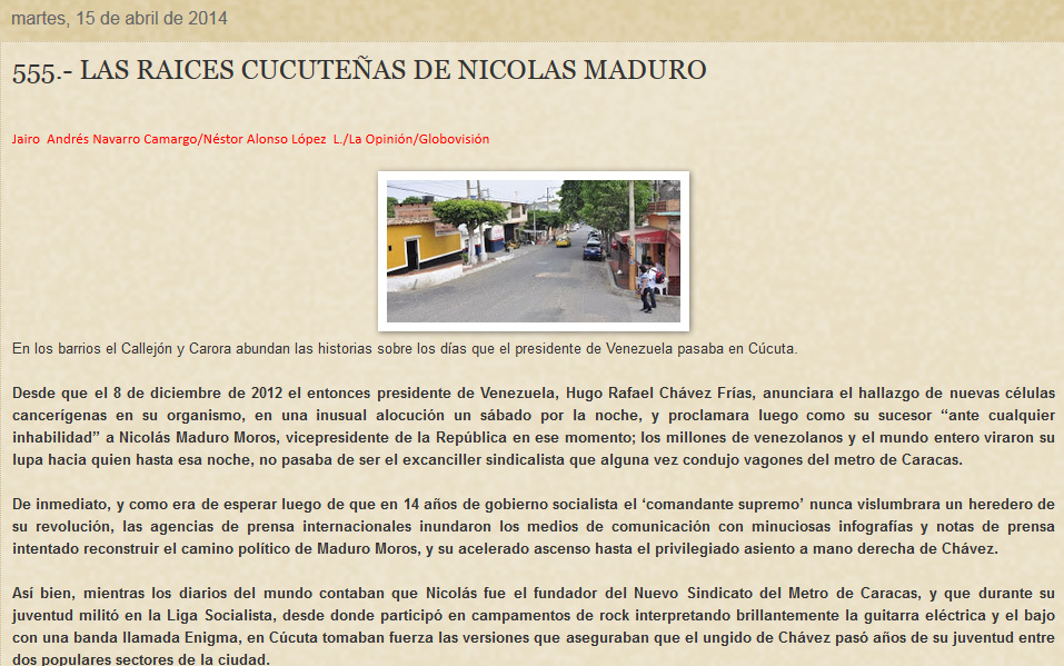 Crónicas de Cúcuta