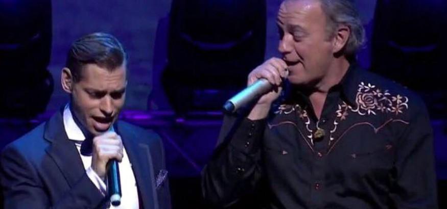 Bertín Osborne y Carlos baute cantan por Venezuela