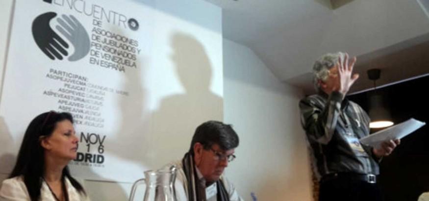 Pensionados y jubilados venezolanos en España reunidos en Madrid