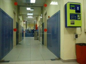 Sala de inadmitidos aeropuerto Madrid Barajas