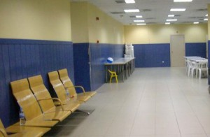 Sala inadmitidos T1 aeropuerto Madrid Barajas