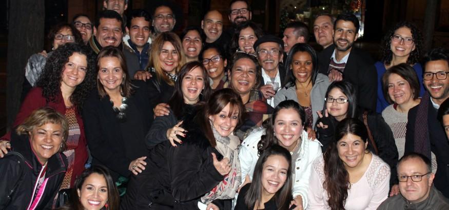 Periodistas venezolanos en la Cena de Navidad 2016