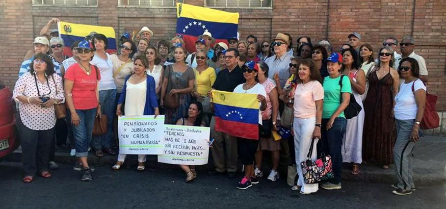 Pensionados venezolanos en Madrid