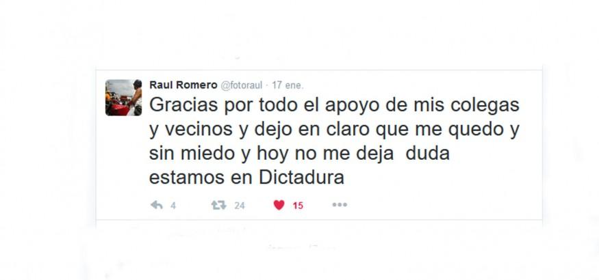 Twitter de Raúl Romero