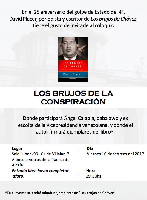 Invitación coloquio Los Brujos de Chávez