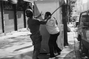 """Represión en el Caracazo. Foto: Francisco """"Frasso"""" Solórzano"""
