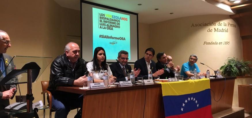 Acto en Madrid para pedir invocacion de la Carta Democrática en Venezuela. Foto: ElCorreoDelOrinoco.com