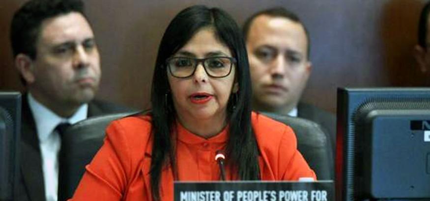 Delcy Rodríguez en la OEA