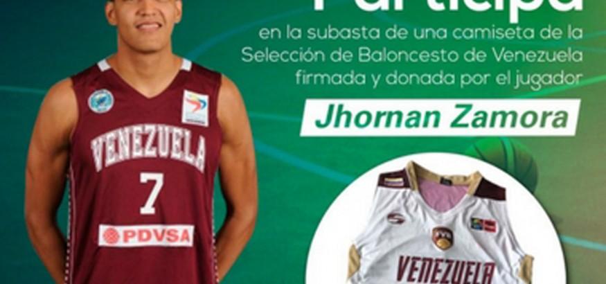 Subasta camiseta Jhornan Zamora