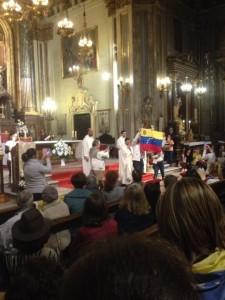 Misa dominical en Madrid por Venezuela