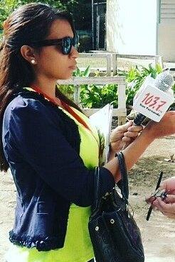 Periodista Liliana Nuñez de Fe y Alegria 103.7fm San Fernando
