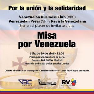 Misa por Venezuela en Madrid a favor de Fe y Alegría