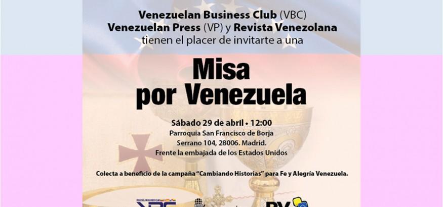 Misa por Venezuela en Madrid