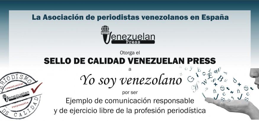 Sello de Calidad para Yo soy venezolano