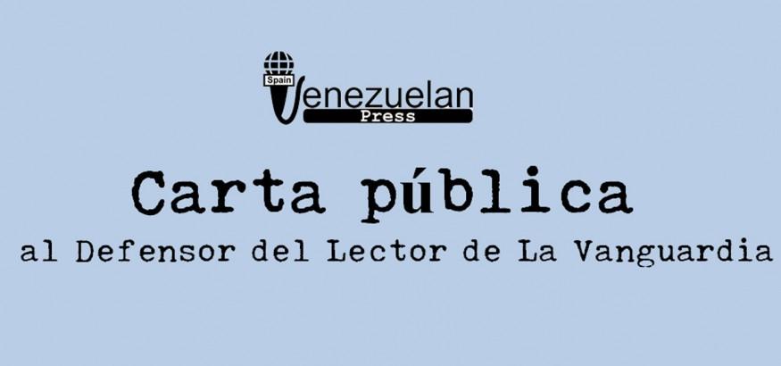 Carta pública al Defensor del Lector La Vanguardia
