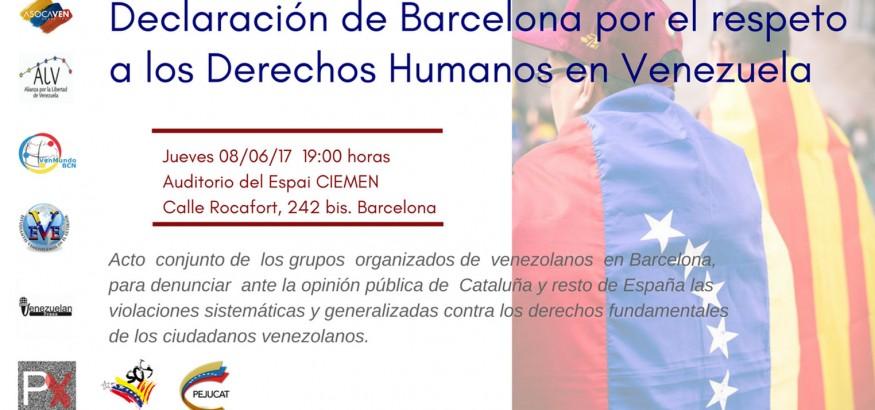 Barcelona, por los Derechos Humanos en Venezuela