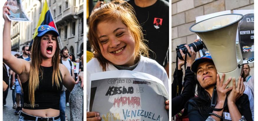 Los-rostros-de-los-venezolanos en Barcelona
