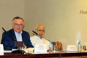 John Müller y Alejandro Arratia en el II Aniversario de Venezuelan Press