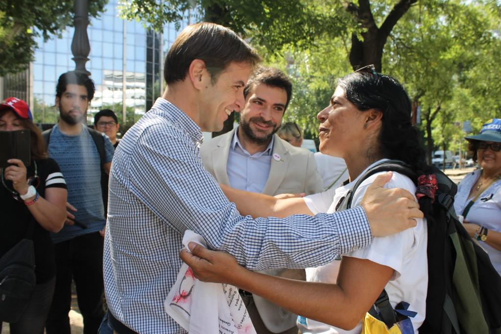 Patricia con Cristiano Brown