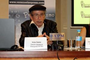 Víctor Suárez durante su intervención en la Mesa redonda