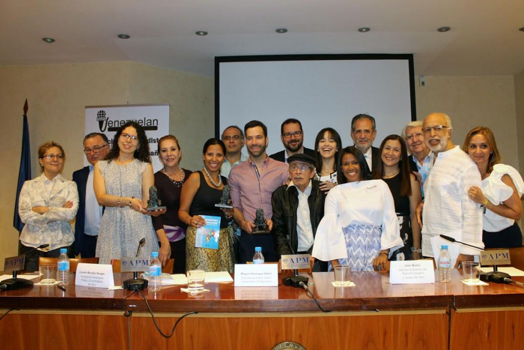 Entrega premios II concurso relatos Miguel Otero Silva