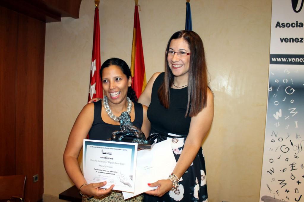 Tercer premio: Briamel González, entrega Carleth Morales Senges