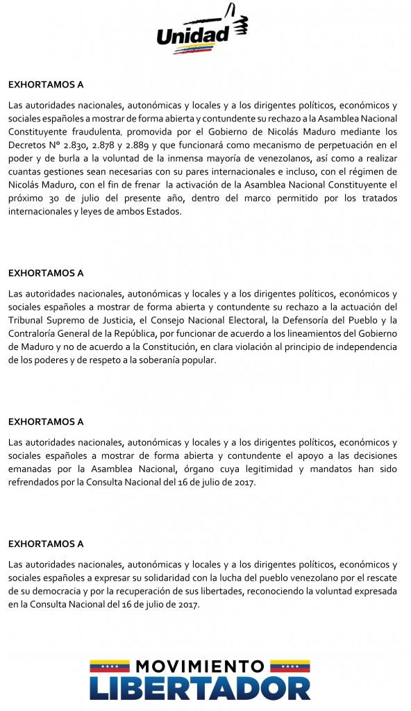 EXHORTO MUD MADRID A ESPAÑA 28 JUL 17-2