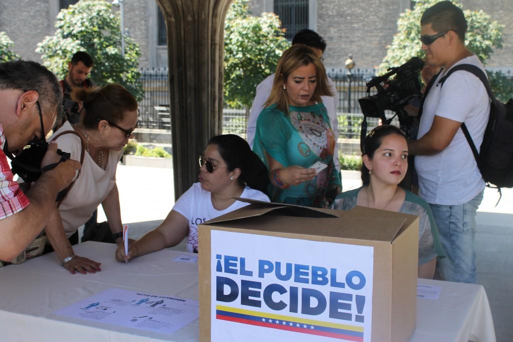 Simulacro de plebiscito en Madrid