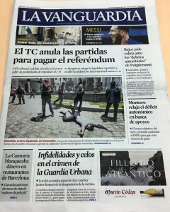 Portada La Vanguardia 6 julio 2017