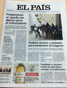 Portada El País 6 julio 2017