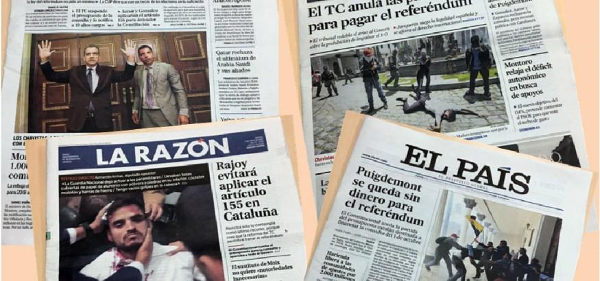 Portadas de la prensa en España 6 de julio de 2017