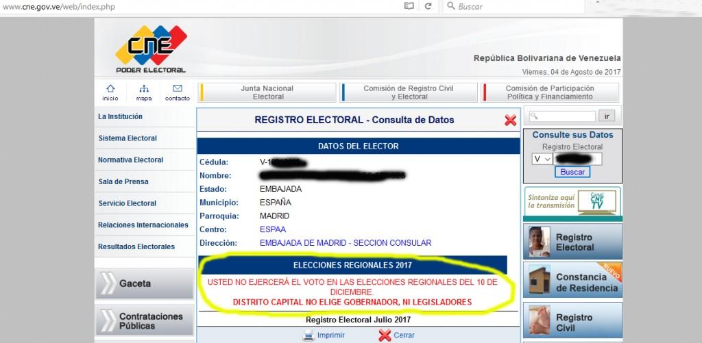 Elecciones regionales Venezuela 2017