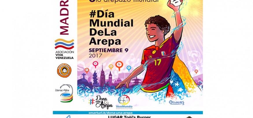 Día-mundial-de-la-arepa-en Madrid