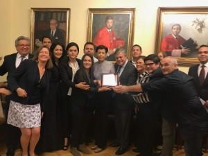 Premio Enrique Ruano Casanova Pro Derechos Humanos otorgado a Leopoldo López